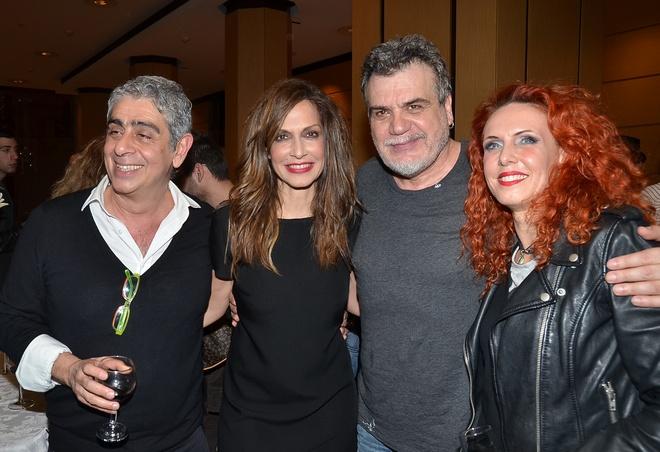 Μανόλης Παντελιδάκης, Άννα Βίσση. Γιάννης Καλκέας, Εβελίνα Παπούλια