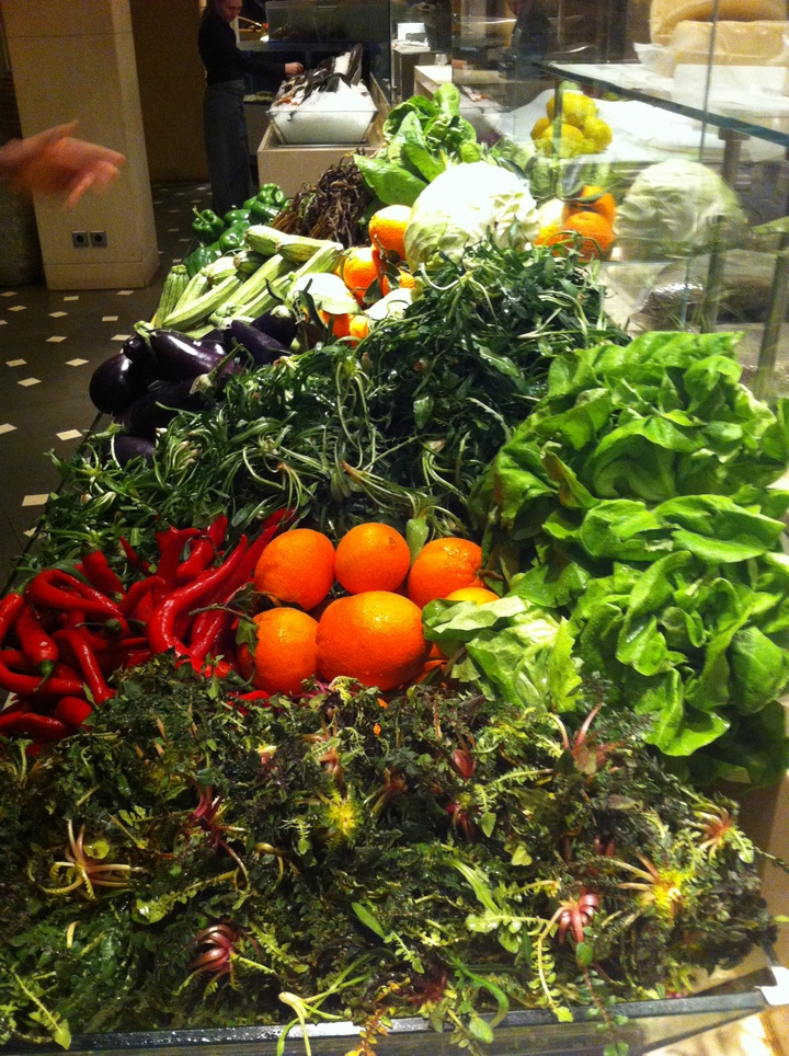 Το stand με τα λαχανικά