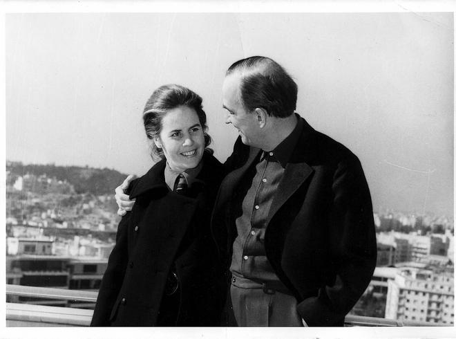Ο Ingmar Bergman με την γυναίκα του στην βεράντα του Galaxy