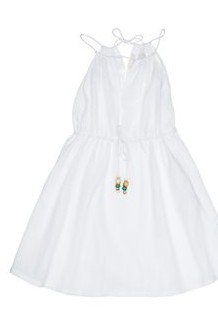 Α-line white dress, το απόλυτο summer dress, Talc, 70 ευρώ