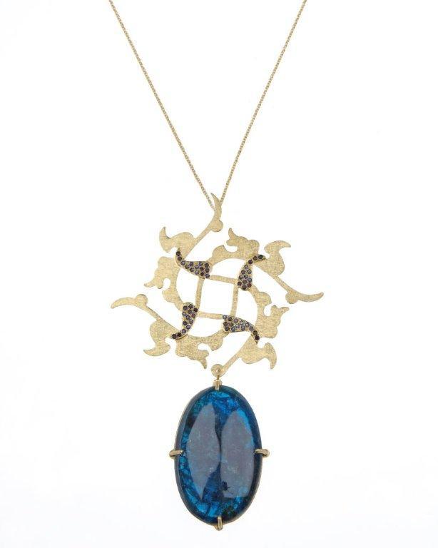 Leaf apatite necklace