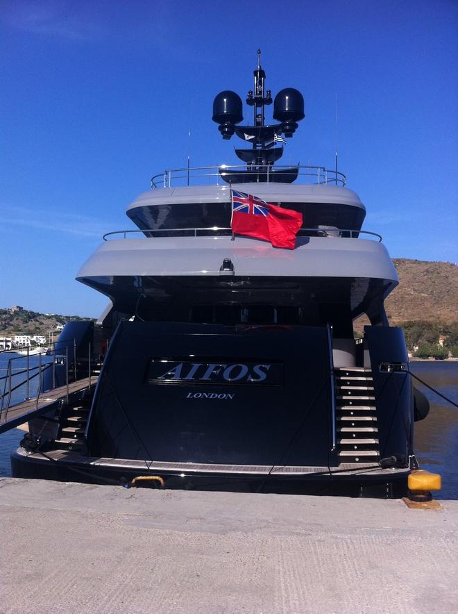 Το επιβλητικό AIFOS στο Λιμάνι...