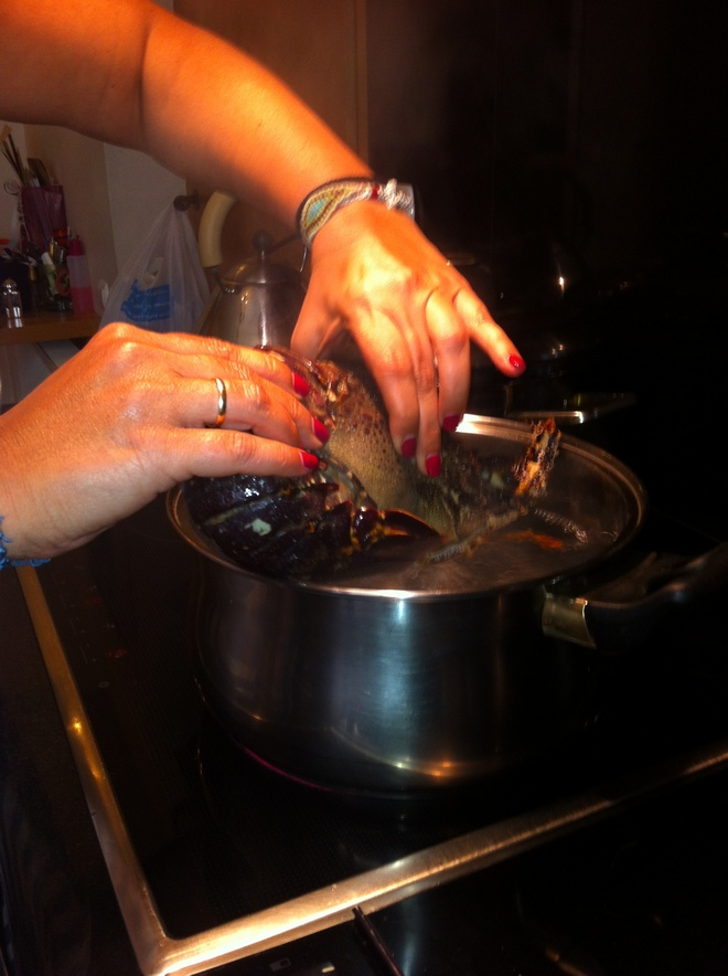 boiling lobster
