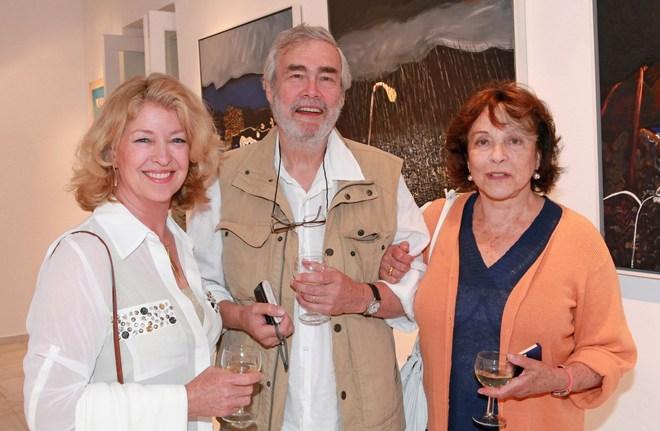 Η ζωγράφος Pamela Rogers, ο Ιστορικός Τέχνης, Francis Brown και η διάσημη ηθοποιός του βρετανικού θεάτρου, Claire Bloom