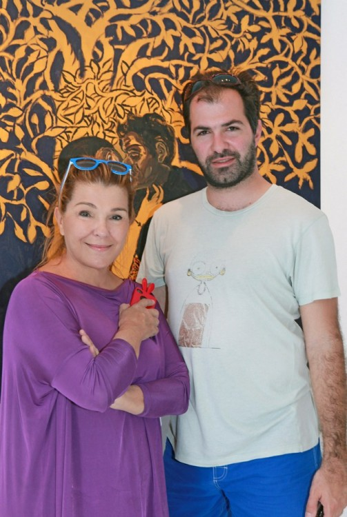 Η Σόφη Κουταλίδη με τον γιο της, Δημήτρη Βρανόπουλο