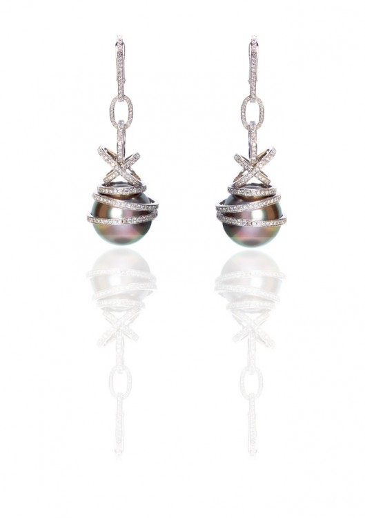Grey Pearls earringsOK