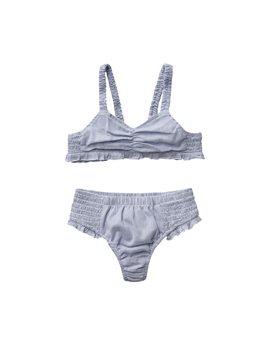 Stella McCartney blue & white fine striped cotton bikini, 22,50 euro