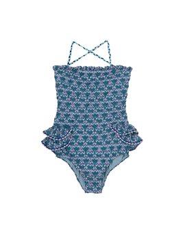 Το λατρεύω! Blue crochet knit one piece bathing suit, 102,50 euro