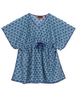 Missoni blue crochet knit kaftan, 109,50 euro