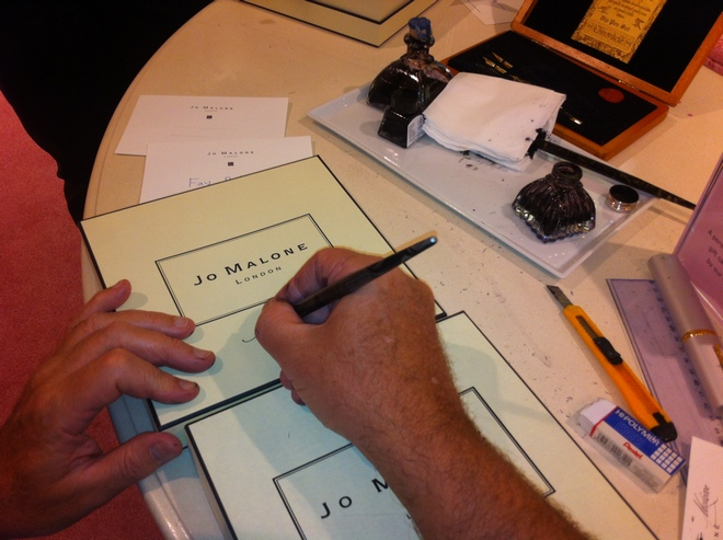calligraph writing