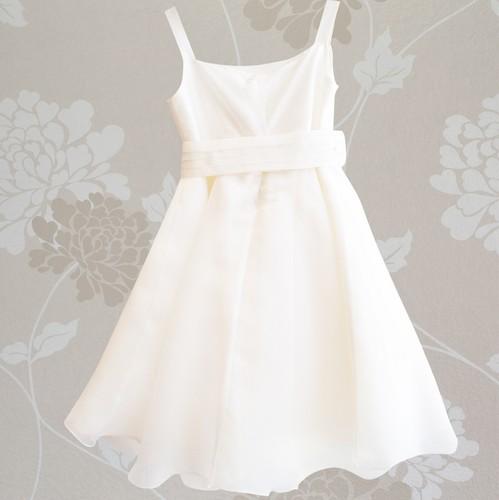 Βαφτιστικό φόρεμα από μετάξι και ζώνη στην μέση