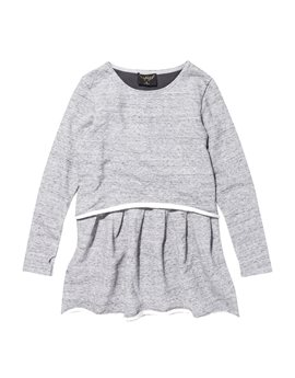 Finger in the Nose, Girls Heather Grey Sweat Dress