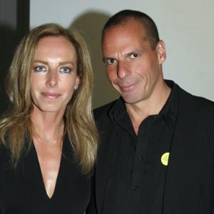 Η Δανάη Στράτου με τον σύζυγο της, Γιάννη Βαρουφάκη