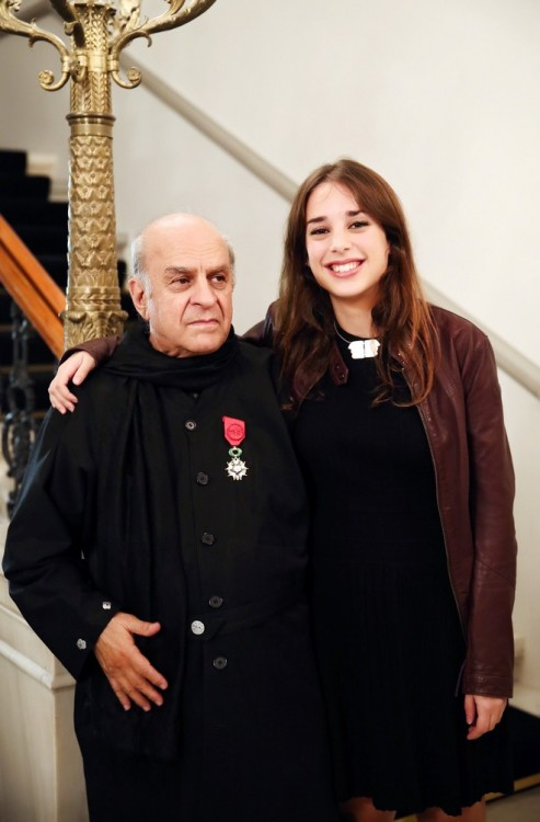 Ο μεγάλος μας ζωγράφος με την κόρη του, Βικτώρια Φασιανού