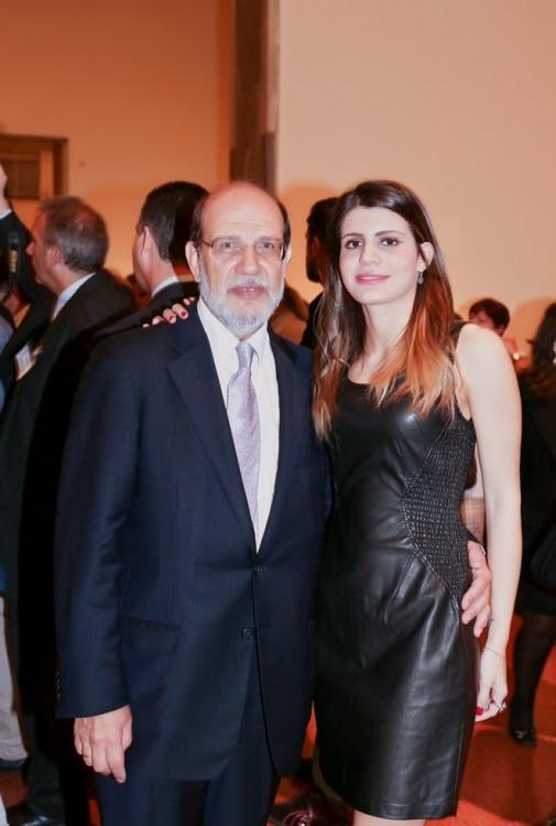 Ο Γιώργος Καλούδης με την κόρη του Ηλέκτρα