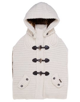 Το αγαπημένο μου!!!!!Bark Knitted Duffle Cape with Removable Hood