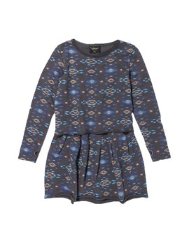 Girls Coal Ethnic Print Sweat Dress