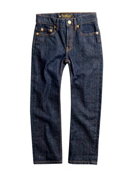 Boys Raw Denim Blue Cotton Jeans