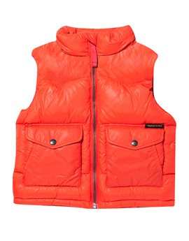 Orange Down Riding Vest