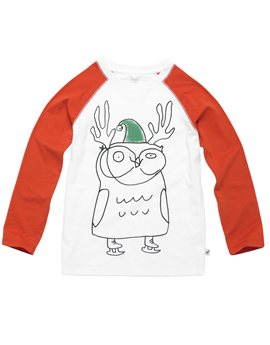 White and Red Reindeer T-Shirt