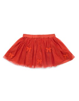 Girls Christmas Red Tulle Party Skirt