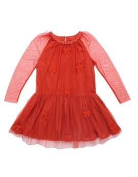 Girls Tulle Party Dress with Ribbon Details