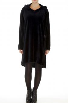 Velour Assymetrical Dress