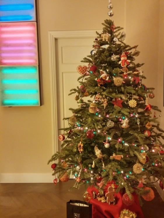 Και ένα υπέροχο Χριστουγεννιάτικο Δέντρο, δίπλα στα light boxes από την Βραζιλία!