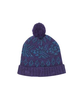Finger in the Nose, Unisex Knitted Ultra Violet Beanie