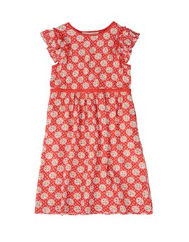 STELLA MCCARTNEY KIDS Girls Red Floral Print Frill Sleeve Dress