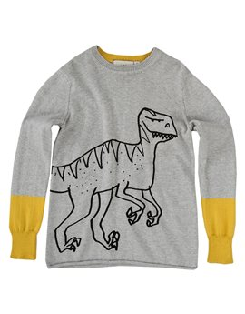 Boys Dinosaur Cotton and Cashmere Knit Sweater