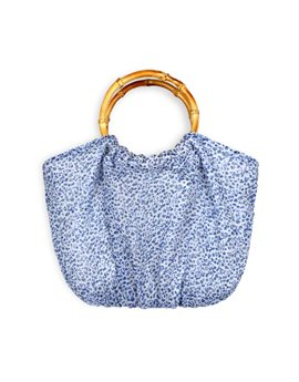 TROIZENFANTS Girls Soft Blue Floral Print Bag