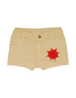 Girls Cotton Fleece Sun Patch Short