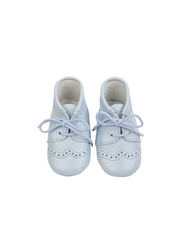 Baby Boy Pale Blue Soft Leather Shoe