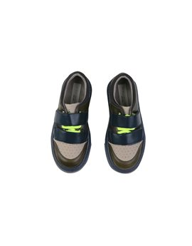 Boys Trainer Shoes with Colourblock Trim