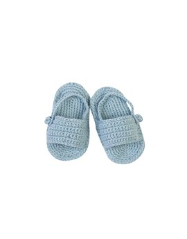 Baby Girls Blue Knitted Sandals