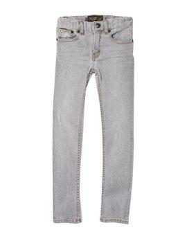 Unisex Grey Denim Straight Jeans