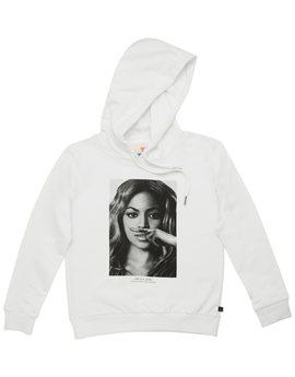 Girls White 'Beyonc?' Hooded Sweatshirt