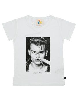 """Unisex White """"Johnny Depp"""" T-Shirt"""