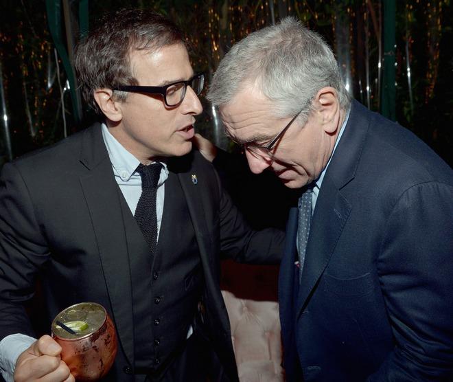 David O. Russell και Robert De Niro στο πάρτυ του Vanity Fair και της GREY GOOSE για το cast της ταινίας «American Hustle»