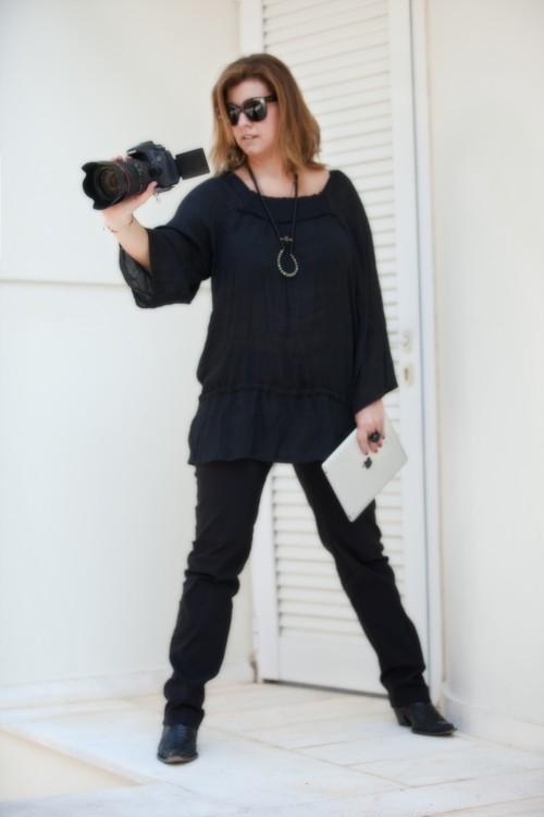 Μαύρη τουνίκ και παντελόνι, από το Vertice