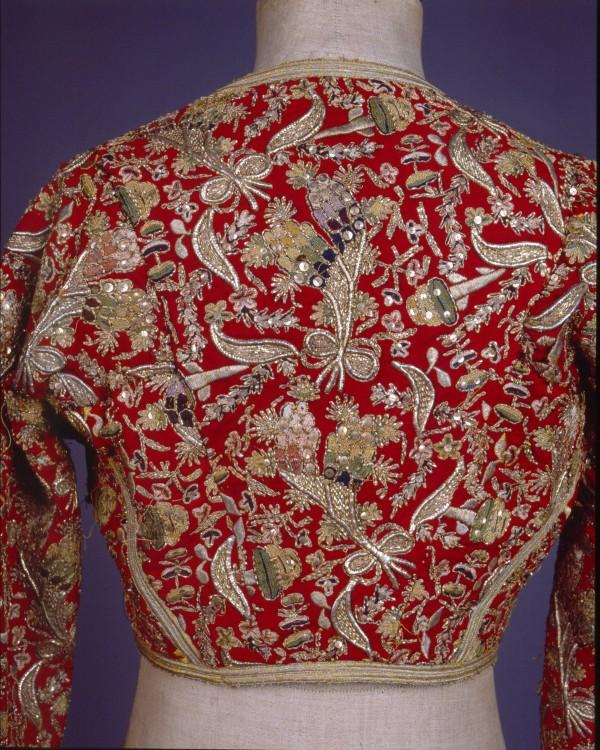 «Κοντογούνι» από  τούρκικο «αντερί» για τη φορεσιά «Αμαλία» Πελοπόννησος, Mέσα 19ου αιώνα...
