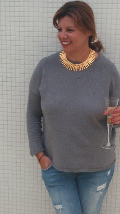 Το απόγευμα, με το καινούργιο μου necklace από την Vanile on the Rock! Like it???