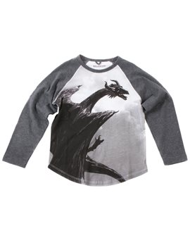 Boys Maleficent Dragon Print T-Shirt
