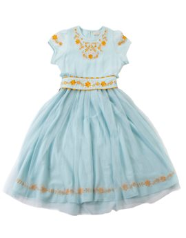 Girls Turquoise Princess Aurora Dress