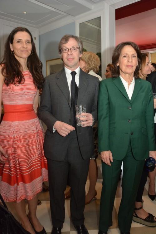 H Πριγκίπισσα Αλεξάνδρα της Ελλάδας, ο Ιστορικός Τέχνης Olivier Berggruer του Berggruer Museum στο Βερολινο και η  εικαστικός Μαρίνα Καρέλλα