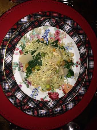 pasta served