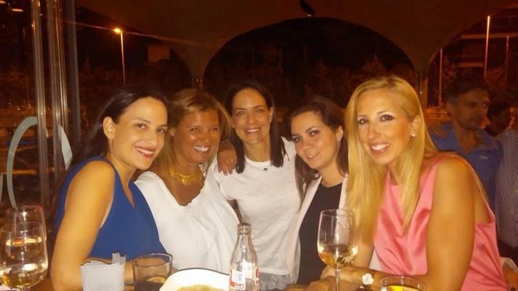 Με την Εμμανουέλα Λύκου, την Μαρία Ελένη Λύκου, την Μαρία Μαργαριτοπούλου και την Έλενα Πάτση