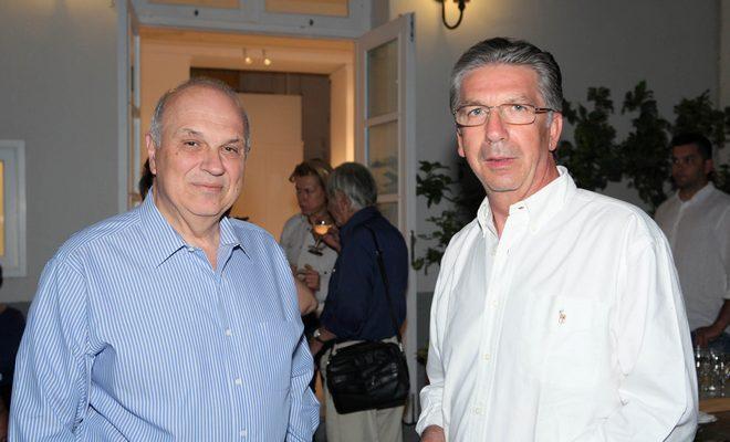 Ο Καθηγητής του Harvard και President του Κολλεγίου Αθηνών, Σπύρος Πολλάλης με τιν Καθηγητή της Ιατρικής, Γιώργο Σάπκα