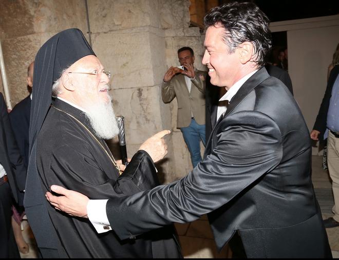 Ο Οικουμενικός Πατριάρχης Βαρθολομαίος και ο Μάριος Φραγκούλης